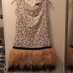 Dresses & Skirts - Small Sequin Feather Mini Cocktail Dress